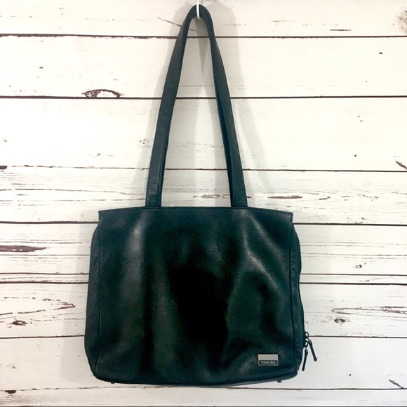 156e269c79 Perlina Large Black Leather Shoulder Bag Purse. M 5b51649404ef5065f0d939b0